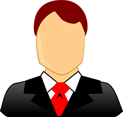 male in suit and red tie avatar
