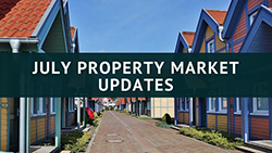 Row of houses - july property market updates