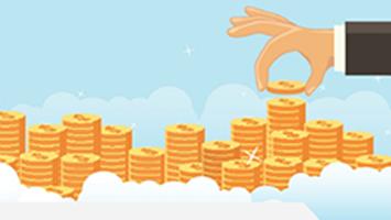 finger piling gold coins