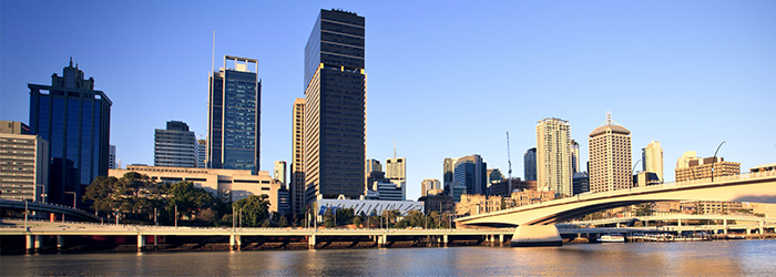Buildings near Brisbane River